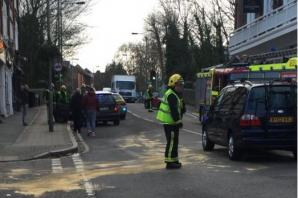Woman in hospital after crash next to Sundridge Park station