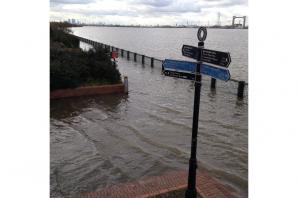 MORE PICTURES: Thames Estuary floods as 'astronomical' high tides hit Kent and south east London