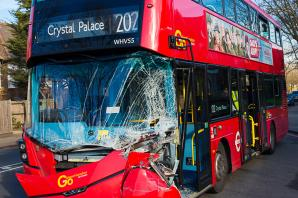 PICTURED: Residents hear 'massive bang' as bus and truck crash in Lee